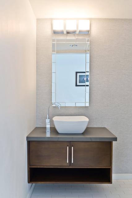 Modern Powder Room Modern Bathroom Los Angeles By KCS Design - Modern bathroom los angeles