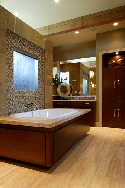 Modern Prairie Home contemporary-bathroom