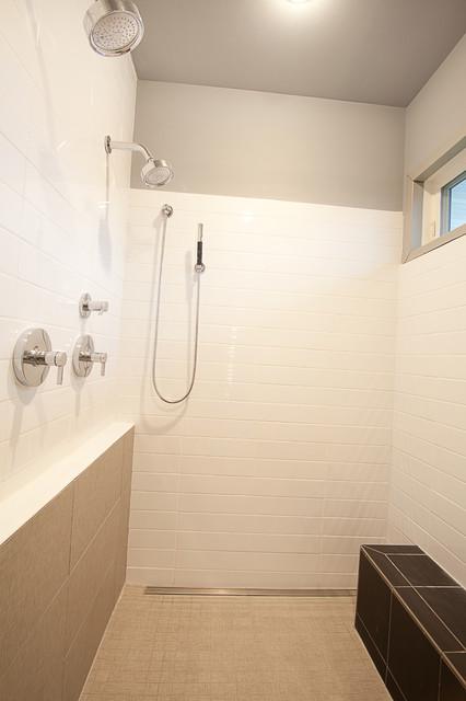 Modern ranch modern bathroom milwaukee by acker for Modern ranch bathroom