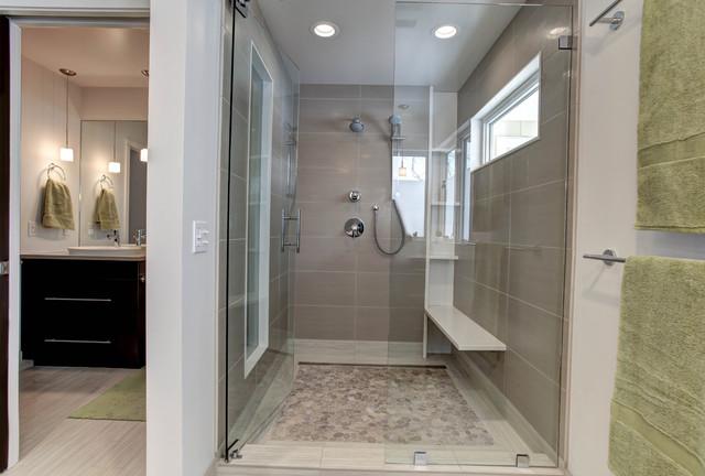 Modern ranch addition modern bathroom grand rapids for Modern ranch bathroom