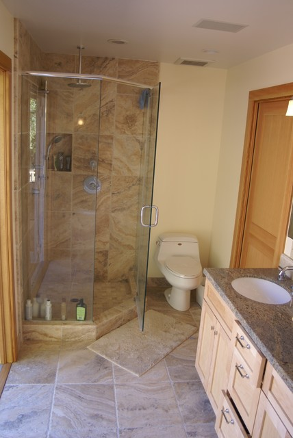 Modern ranch house transitional bathroom other by for Modern ranch bathroom