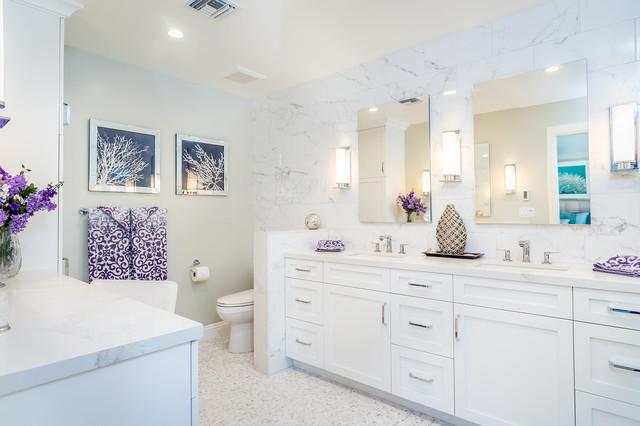 Modern ranch transitional bathroom los angeles by for Modern ranch bathroom