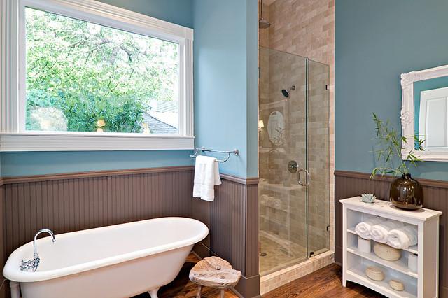 Modern reincarnation of traditional victorian bathroom for 6x7 bathroom