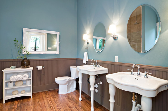 Traditional Blue Bathroom Designs : ... reincarnation of traditional Victorian bathroom traditional-bathroom
