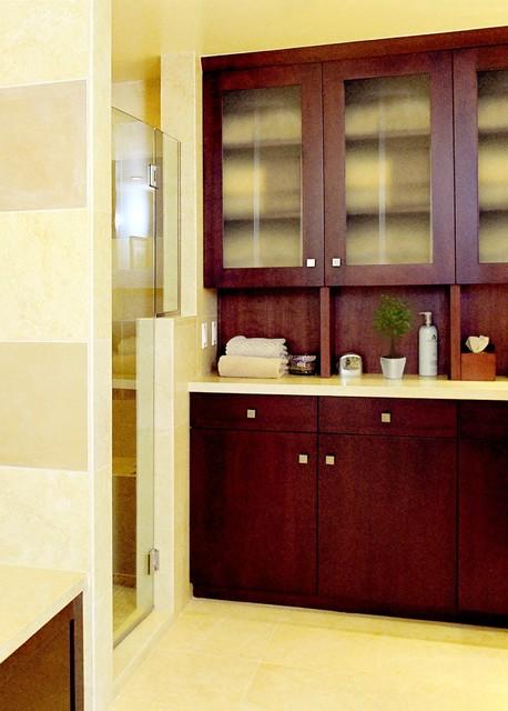 Modern Remodel - Huntington Beach CA transitional-bathroom