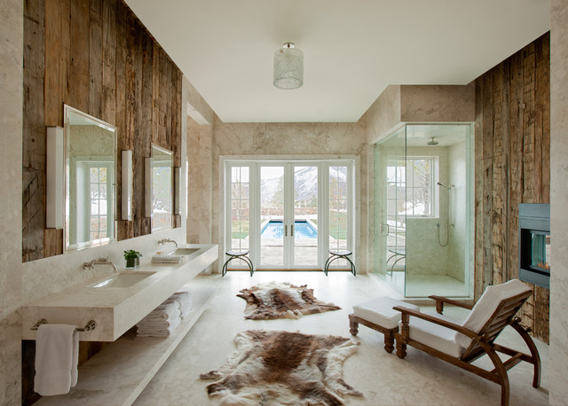 Interior Designers Decorators Modern Rustic Aspen Mountain Retreat Bathroom