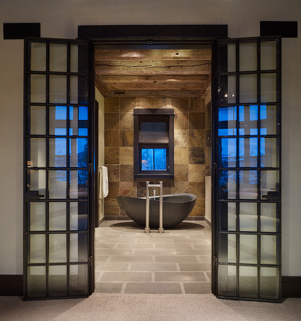 Modern rustic bathroom contemporary bathroom denver for Bathroom ideas rustic modern