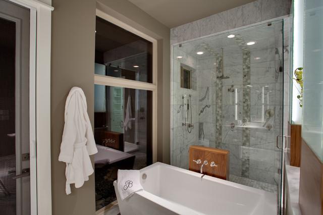 Modern santa fe style traditional bathroom other for Santa fe style bathroom ideas
