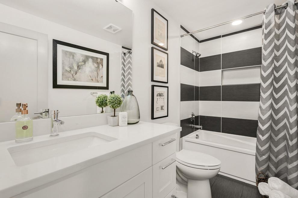 Modern Split Level Remodel - Hall Bath - Contemporary ...