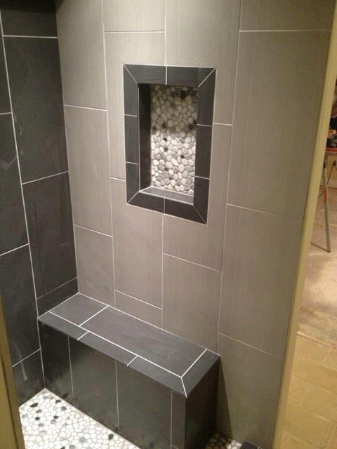 Trendy bathroom photo in Detroit