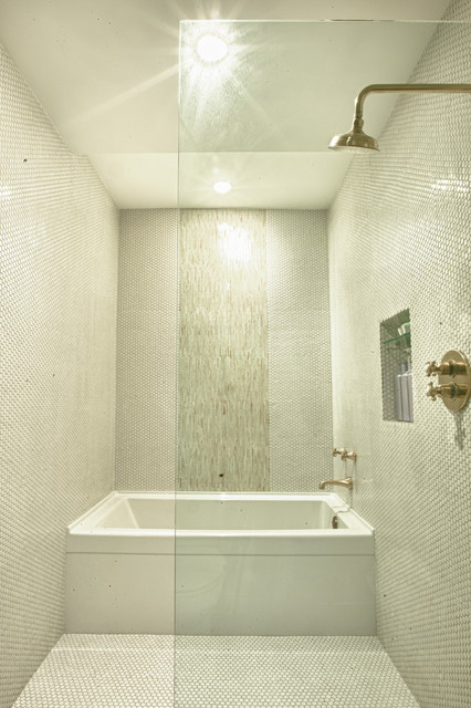 Modern Tub And Shower Room Bathroom Denver