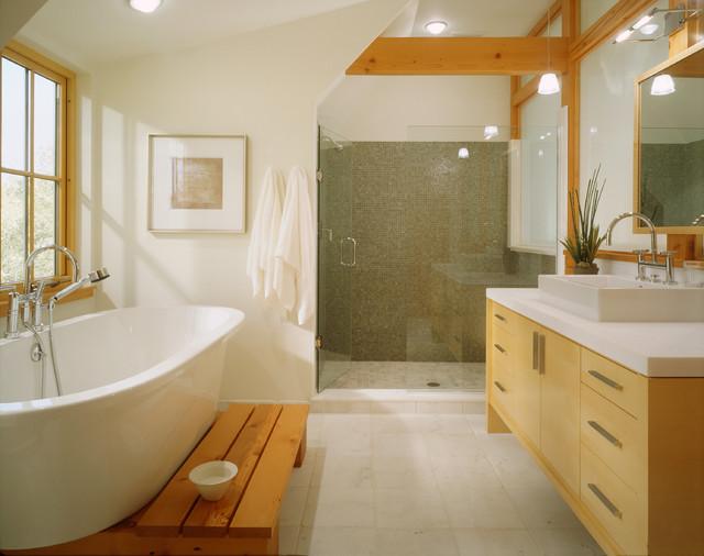 Modern tudor contemporary bathroom minneapolis by for Tudor bathroom design