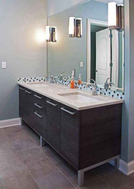 Modern Vanity On Aluminum Legs Contemporary Bathroom Newark By Kuche Cucina