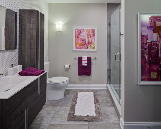Grey purple bathroom design ideas pictures remodel for Grey and purple bathroom ideas