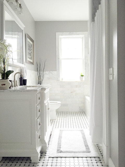 Modern Victorian Bathroom British Colonial Bathroom Boston By In Bloom Interiors