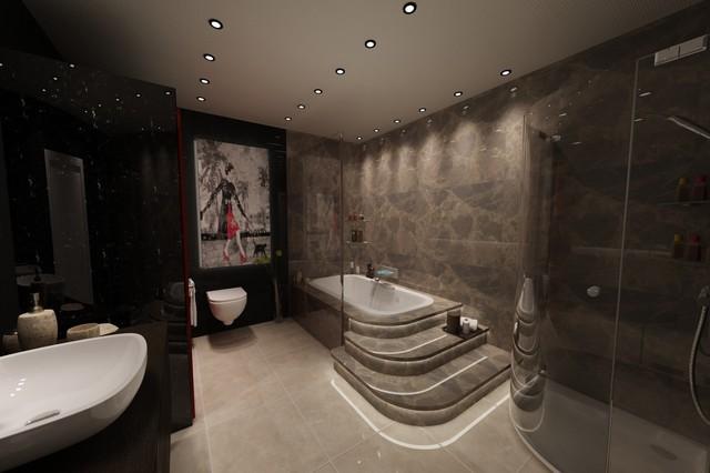 modern villa modern-bathroom
