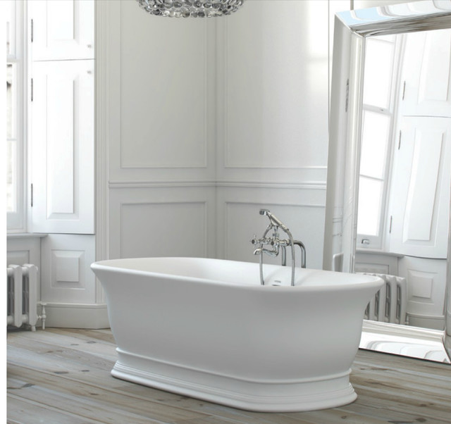Modern White Bathroom In Period Home Contemporary
