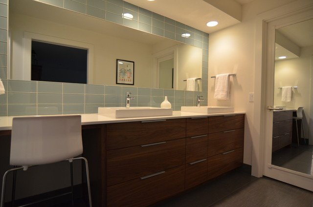 Modern whole home design master bathroom modern for Whole bathroom remodel
