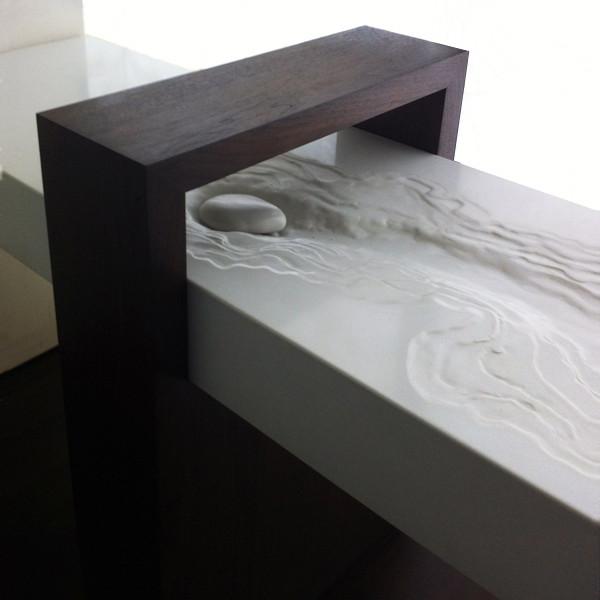 Modern Zen Concrete Erosion Sink  Original Design By Brandon Gore  Minimalistisch Badezimmer