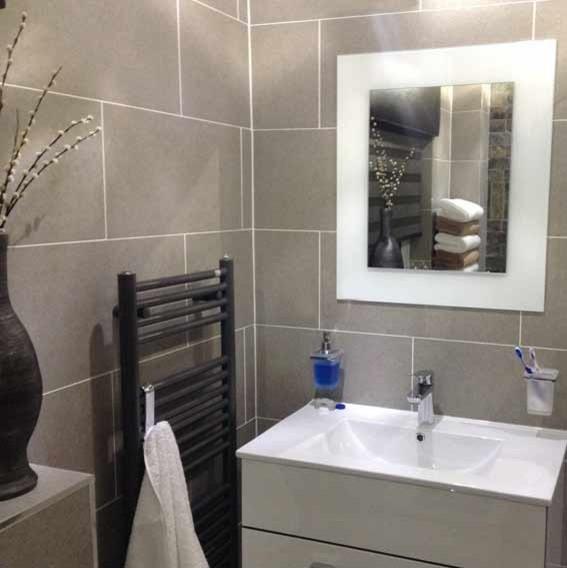 Moderna Light Grey Porcelain Floor And Wall Tiles 600x300mm Modern Bathroom Other By The Stone Tile Company Ltd 01530 811118