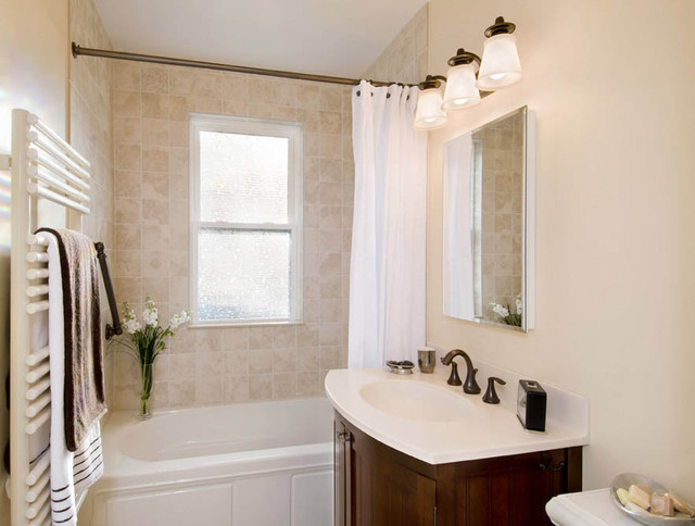 Traditional Bathroom Remodel modest bath renovation - traditional - bathroom - boston -