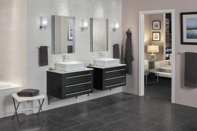 Moen Align Modern Double Vanity Bathroom Modern