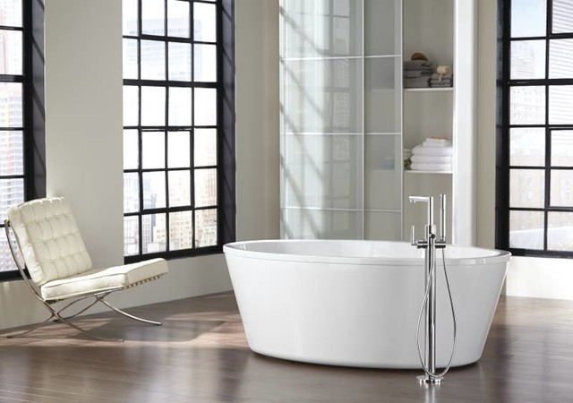Moen Arris Freestanding Tub Modern Bathroom - Modern - Bathroom ...