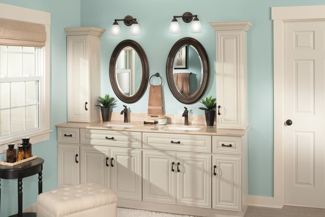 Moen Brantford Traditional Blue Bathroom Traditional Bathroom Cleveland By Moen