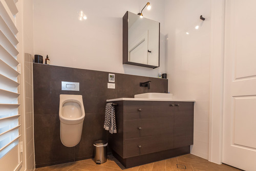 urinal in home bathroom