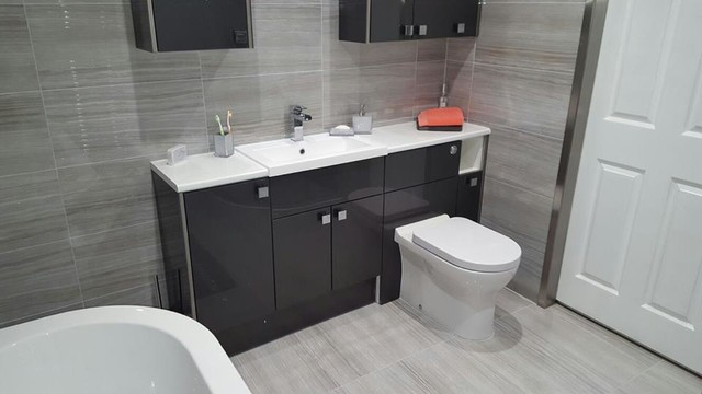 Monochrome bathroom contemporary bathroom other by for Bathroom fitters grimsby