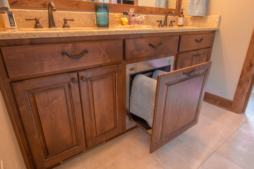 Towel warmer drawer bathroom