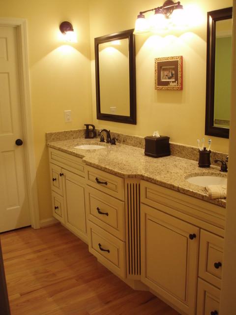 Montclair Canvas With Coco Glaze By KraftMaid Cabinetry - Traditional - Bathroom - atlanta - by ...