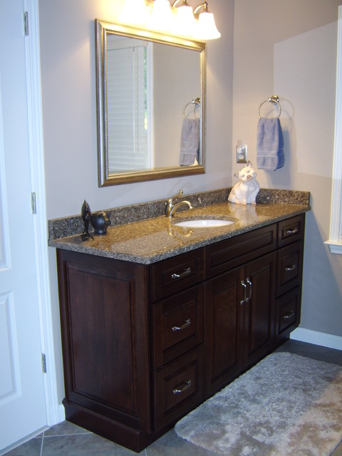 Montclair Cherry By Kraftmaid Traditional Bathroom Atlanta By David L Scott Lowe 39 S