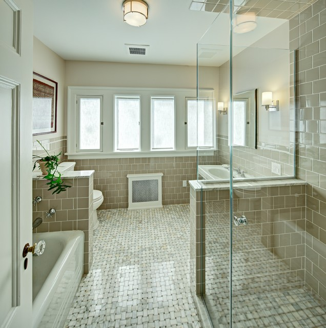 Montclair hall bath traditional bathroom new york for Hall bath remodel ideas