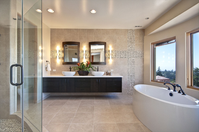 Montclair Hills Master Bath Design modern bathroom