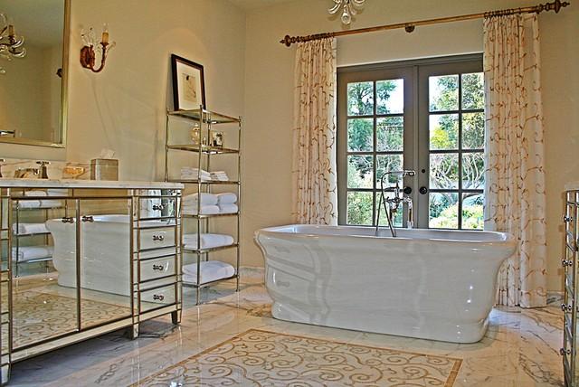 Montecito 1 mediterranean-bathroom