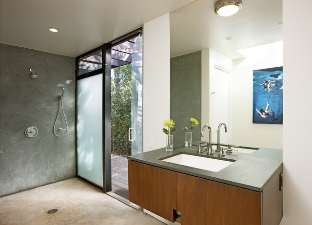 Montecito mid century bathroom midcentury bathroom for Mid century modern master bathroom