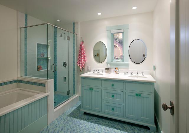 Montecito modern ranch transitional bathroom santa for Modern ranch bathroom