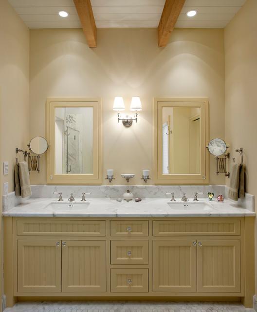 Montecito modern ranch traditional bathroom santa for Modern ranch bathroom