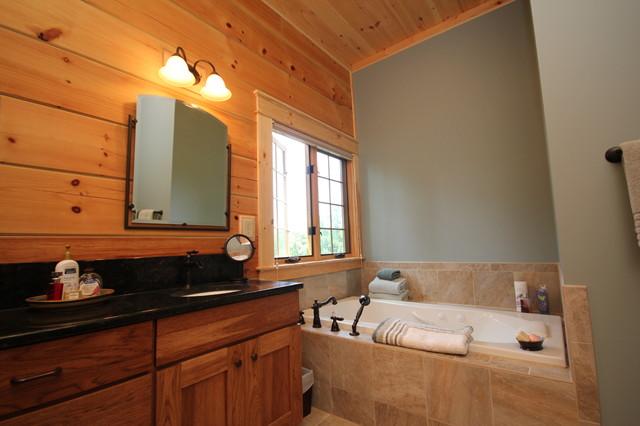 MONTPELIER LOG CABIN Rustic Bathroom Richmond By Summit Custom