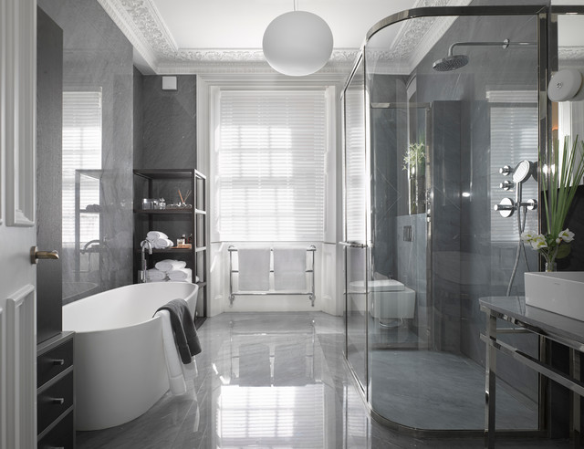 Montpelier Street Knightsbridge Contemporary Bathroom London By Obbard Design Development