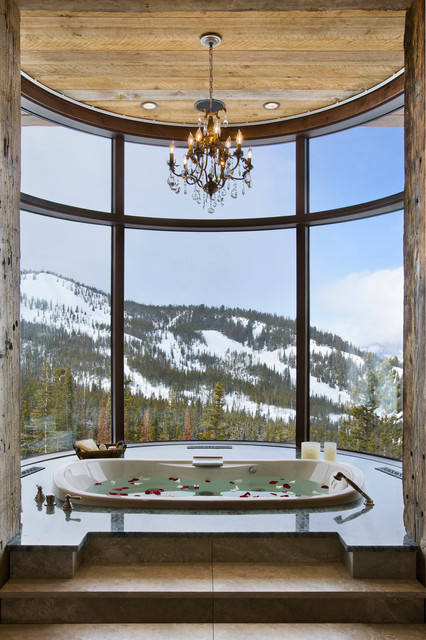 Moonlight Ranch Residence rustic-bathroom