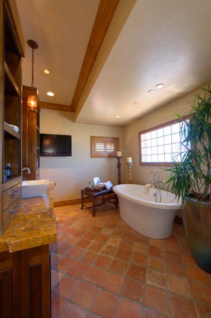 Moore Residence mediterranean-bathroom