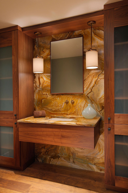 Moraya Bay Powder Room contemporary bathroom