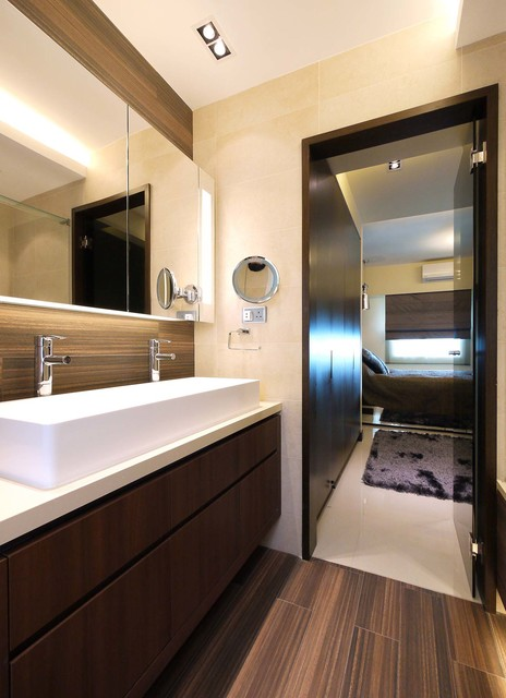 Mordern indian apartment contemporary bathroom hong for Interior decoration of small bathroom