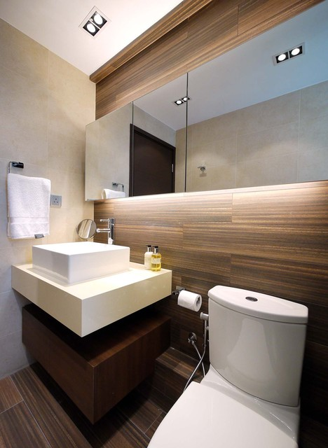 Small Bathroom Design Hong Kong mordern indian apartment - contemporary - bathroom - hong kong
