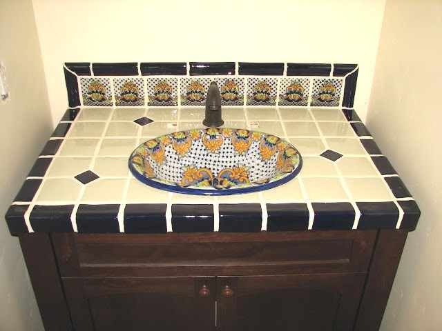 mexican sinks bathroom more baths from accents tiles mediterranean 13643