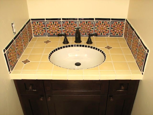 More baths from Latin Accents tiles mediterranean-bathroom