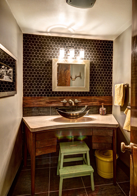 More Than Half a Bath - Midcentury - Bathroom - Grand ...