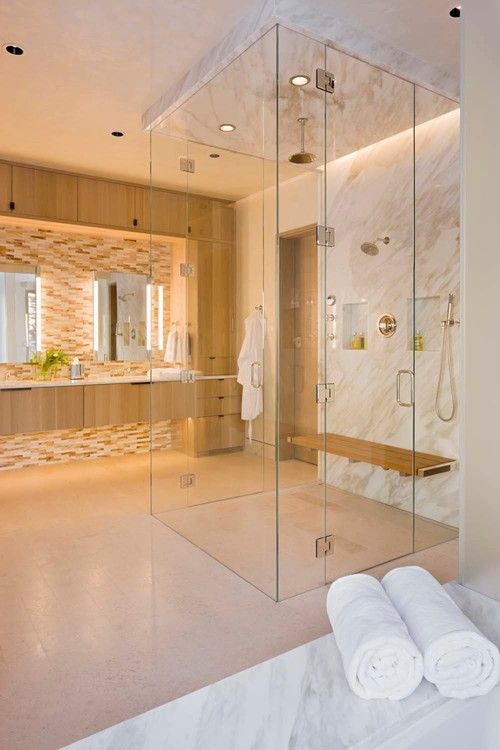Clearly Gorgeous Glass In The Bathroom Abode
